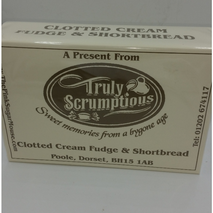 A box of Shortbread & Clotted Cream Fudge from Truly Scrumptious