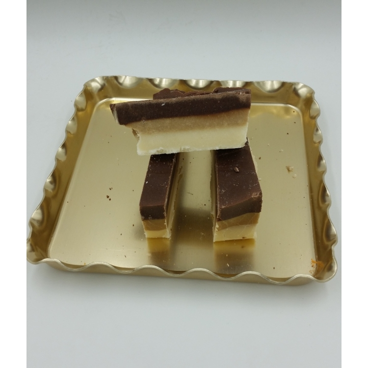 Triple Layer - Chocolate, Vanilla and Caramel Fudge- Gluten Free