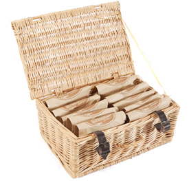 Luxury Hamper - A wicker hamper crammed with your favourite treats