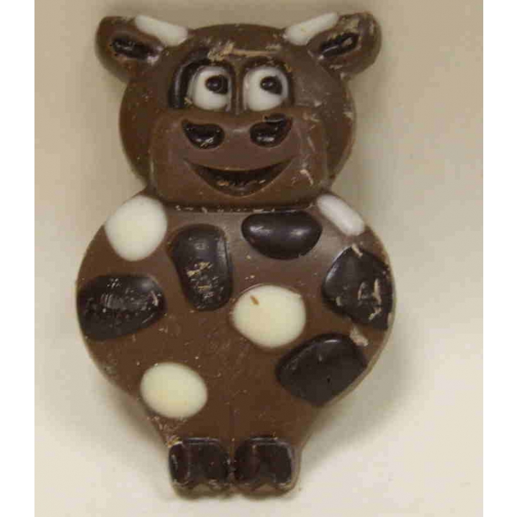 Solid Decorated Milk Chocolate Cartoon Cow