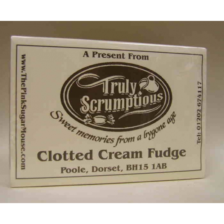 A box of Clotted Cream fudge from Truly Scrumptious