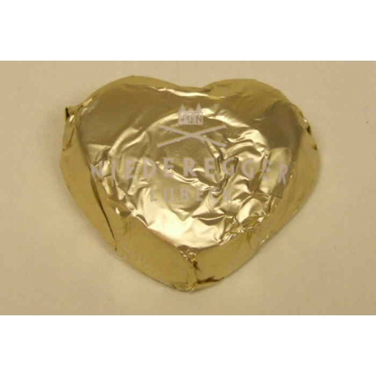 Niederegger Chocolate covered champagne marizpan heart