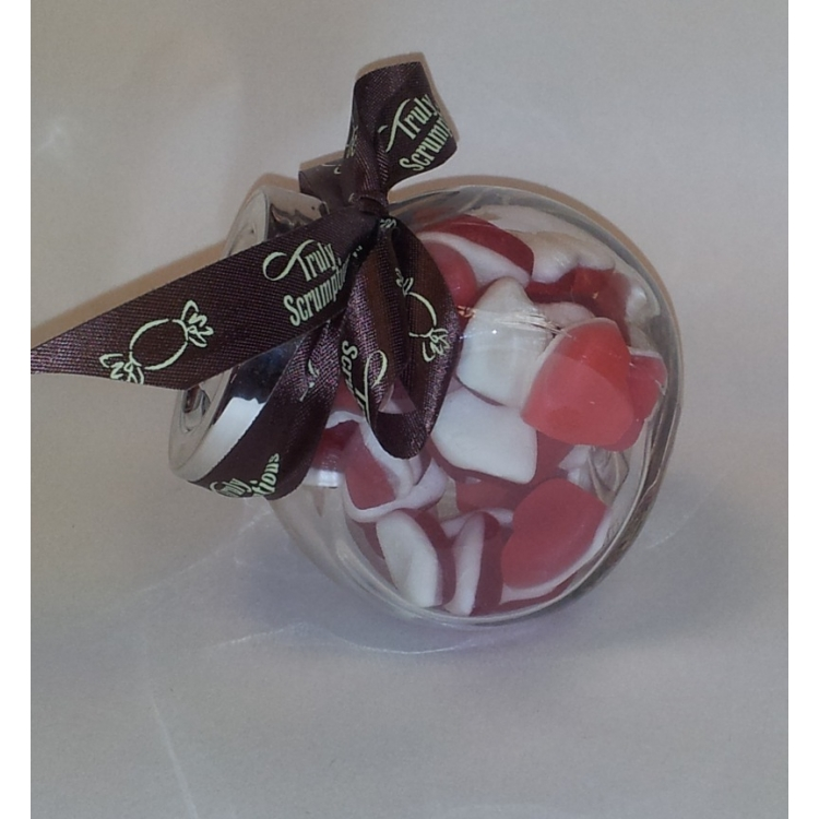 Small Jar Heart Throbs with a lovely ribbon