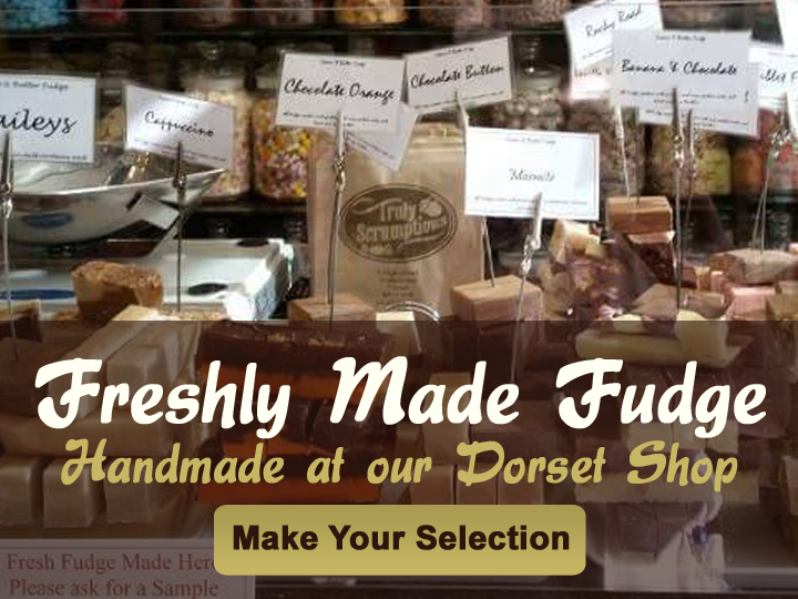 Freshly Made Fudge Handmade at our Dorset Shop